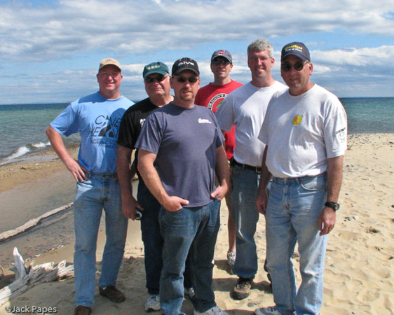 Group Photo at Whitefish Point - Paradise, Michigan